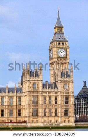 London Big Ben, England UK - stock photo