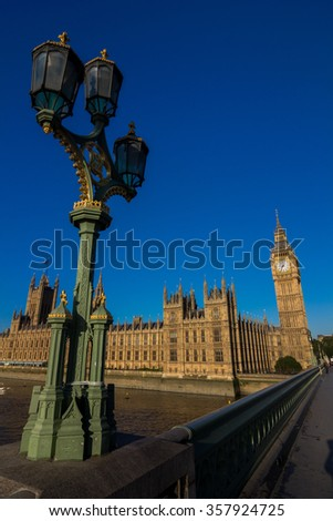 London bigben , UK, United Kingdom - stock photo