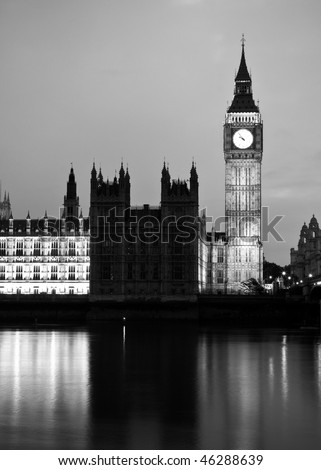 London black and white art series. 6. - stock photo