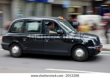 London black taxi - stock photo