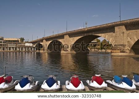 London Bridge at Lake Havasu City, Arizona - - stock photo