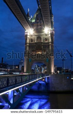 London bridge at night, London - stock photo