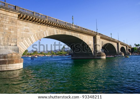 London Bridge in Lake Havasu, Arizona - stock photo