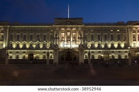 London - Buckingham palace in night - stock photo