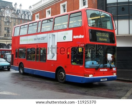 London Bus - stock photo