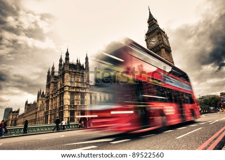 london bus abstract hrd