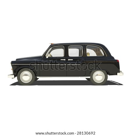 London cab isolated