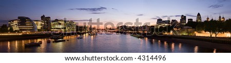 London city skyline panorama from tower bridge