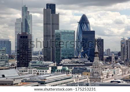 London city, UK - stock photo