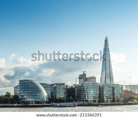 London Cityscape including City Hall - stock photo