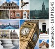 London collage of different images. - stock photo