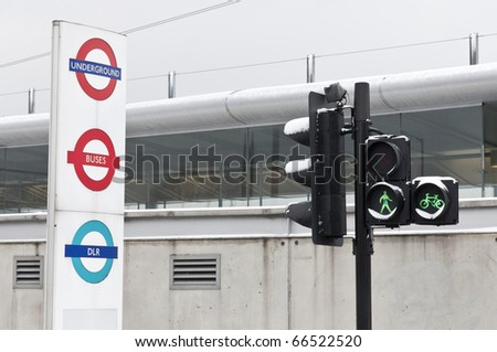 LONDON - DECEMBER 02: The snow fall during the coldest beginning of winter on record in the UK caused transport disruptions throughout the week. DECEMBER 02, 2010 in London, England. - stock photo