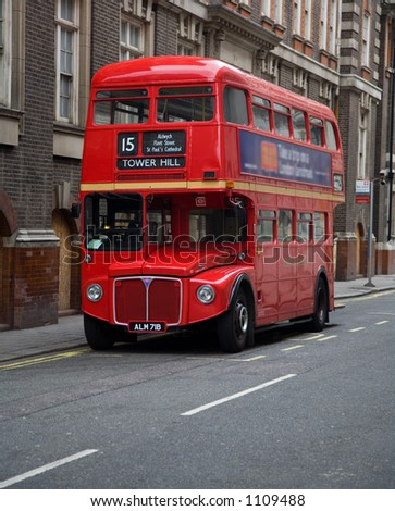 London double decker bus - stock photo