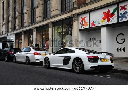 London England Audi R V Stock Photo Shutterstock - Common sports cars