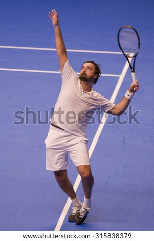 LONDON, ENGLAND. 04 DECEMBER 2009 -   Henri Leconte (FRA) during the AEGON Masters Tennis, Royal Albert Hall, London.