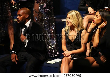 LONDON, ENGLAND - DECEMBER 02: Tyson Beckford (L) and guests attends the 2014 Victoria's Secret Fashion Show Front Row & Pre-Cocktail Reception on December 2, 2014 in London, England.