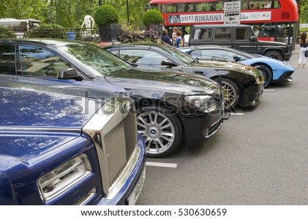 London England July 30 Luxury Cars Stock Photo 530630656