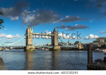 LONDON, ENGLAND - JUNE 15 2016: Sunset view of Historic Tower of London, England, Great Britain