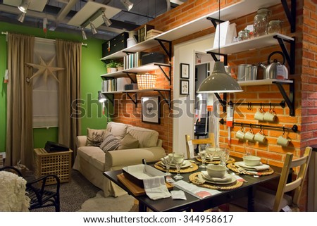 londonengland november 282015 a sample interior ikea stock photo