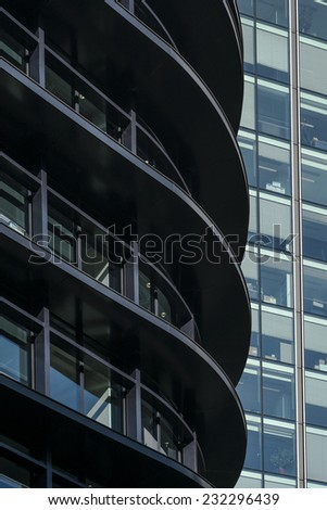 London, England - November 4th 2104 - Modern London Architecture in The City district