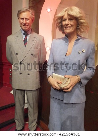 LONDON, ENGLAND - SEP 4: Madame Tussauds in London, England, as seen on Sep 4, 2011. Founded by wax sculptor Marie Tussaud, it is a major tourist attraction in London, displaying famous waxworks. - stock photo