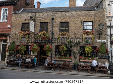 LONDON, ENGLAND - SEPTEMBER 28, 2017: Cityscape in Windsor. The Two Brewers Pub in England.