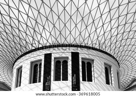 LONDON, ENGLAND - SEPTEMBER 24: The Great of the British Museum on September 24 2014 in London, England. - stock photo