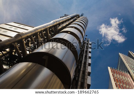 London, England - 20th June:  Buildings in London's finical District. (The Willis Building, Lloyds of London.) on 30th June 2013. - stock photo