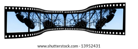 London Eye Film strip - stock photo