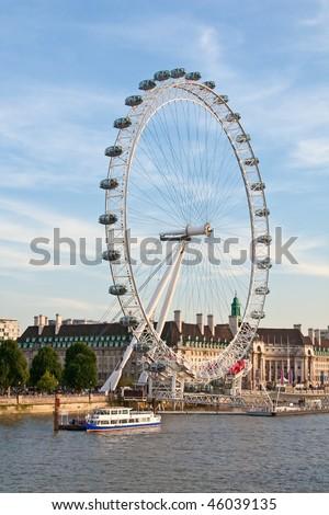 London eye: New London Landmark - stock photo