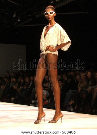 London Fashion Week S/S 2006. A piece from Amanda Wakeley Collection - stock photo
