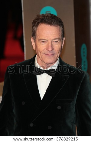 LONDON - FEB 14, 2016: Bryan Cranston attends the EE Bafta British Academy Film Awards at the Royal Opera House on Feb 14, 2016 in London - stock photo