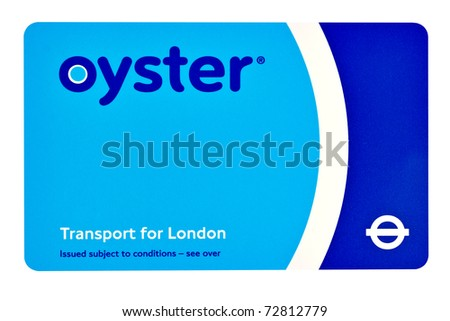 LONDON-FEBRUARY 28:A TFL Oyster Card February 28, 2011 in London.An estimated 3.6 million travelers a year are being incorrectly fined for not touching their Oyster cards in or out properly - stock photo