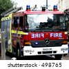 london fire brigade fire engine - stock