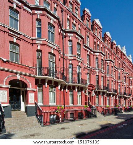 London flats - stock photo