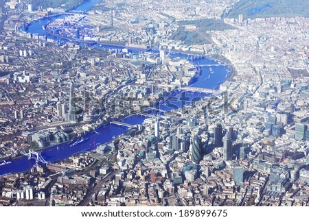London from above - stock photo