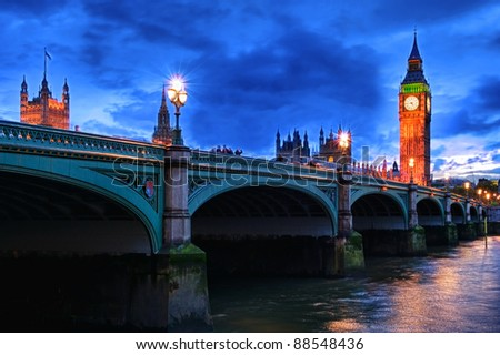 london hdr - stock photo