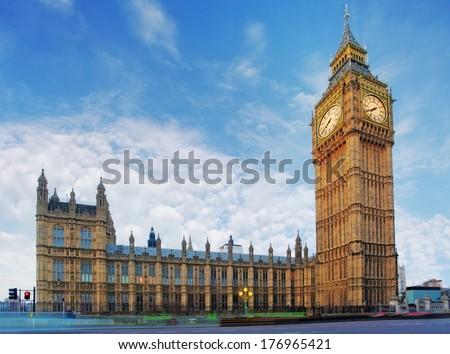 London - House of Parliament, Big Ben - stock photo