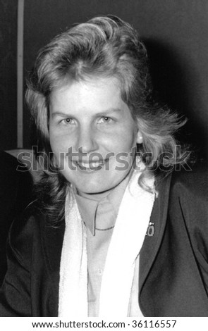 LONDON-JANUARY 9: Sandi Toksvig, Danish born British comedy writer and performer, at a press launch on January 9, 1991 in London.