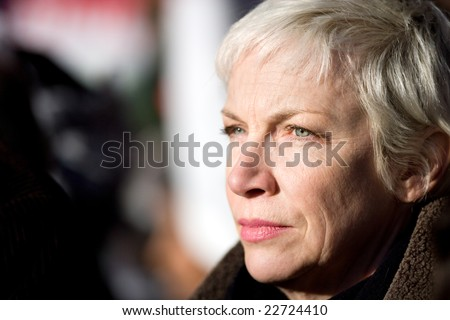 LONDON - JANUARY 03: Singer Annie Lennox attending the Gaza protest, January 3rd, 2009, London, United Kingdom.