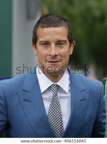 LONDON - JUL 8, 2015: Bear Grylls arrives to the Wimbledon Championships on Jul 8, 2015 in London   - stock photo