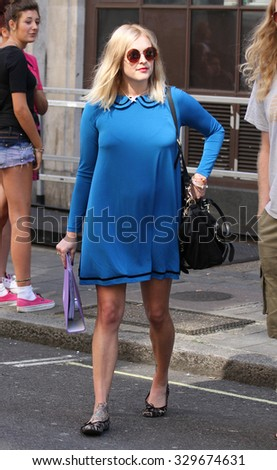 LONDON - JUL 06, 2009: Fearne Cotton seen at the BBC radio one studios on Jul 06, 2009 in London