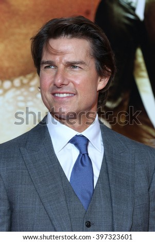 LONDON - JUL 25, 2015: Tom Cruise attends the Mission Impossible: Rogue Nation - UK special screening at the BFI IMAX on Jul 25, 2015 in London - stock photo