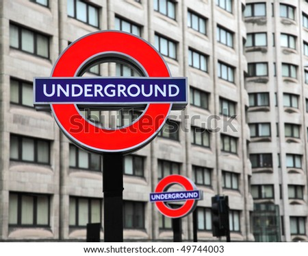 LONDON - JULY 29: Transport for London announced that the 'Underground' logo will also be used for other transportation systems in London on July 29, 2009. - stock photo