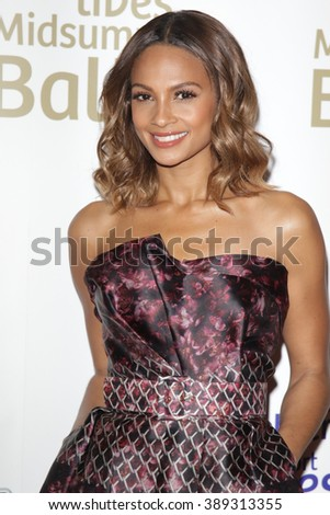 LONDON - JUN 3, 2015: Alesha Dixon attend the Together for Short Lives Midsummer Ball at Banqueting House on Jun 3, 2015 in London  - stock photo