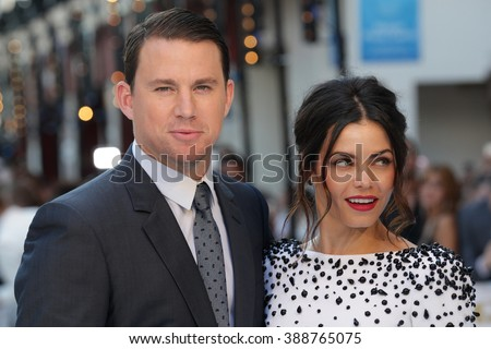 LONDON - JUN 30, 2015: Channing Tatum and Jenna Dewan attend the Magic Mike: XXL - UK film premiere, Leicester Square on Jun 30, 2015 in London