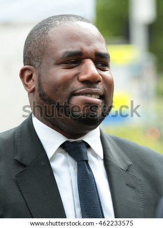 London - Jun 27, 2016: David Lammy seen at College Green,  Westminster on Jun 27, 2016 in London