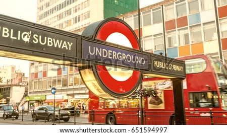 London June 11 2015 Public Subway Stock Photo Royalty Free