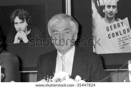 LONDON-JUNE 11: Robert Kee, British journalist and television reporter, at a press conference on June 11, 1990 in London.