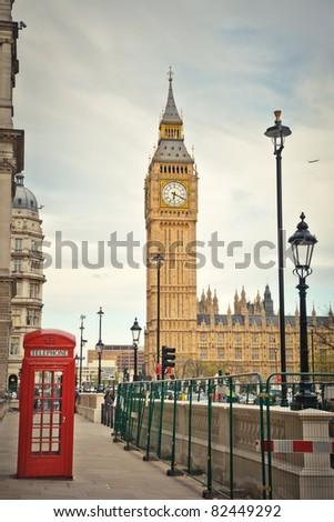 London landmarks - stock photo
